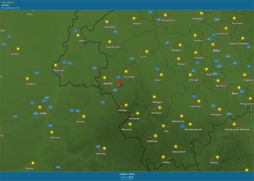 Wetter Aachen Morgen