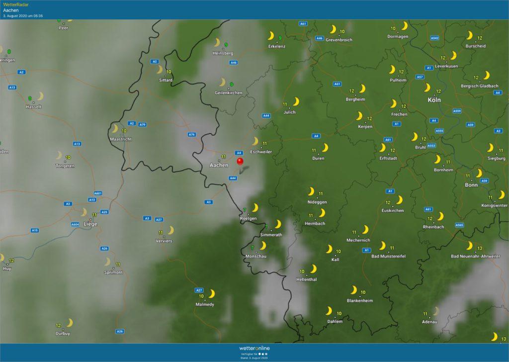 Wetter Aachen Brand